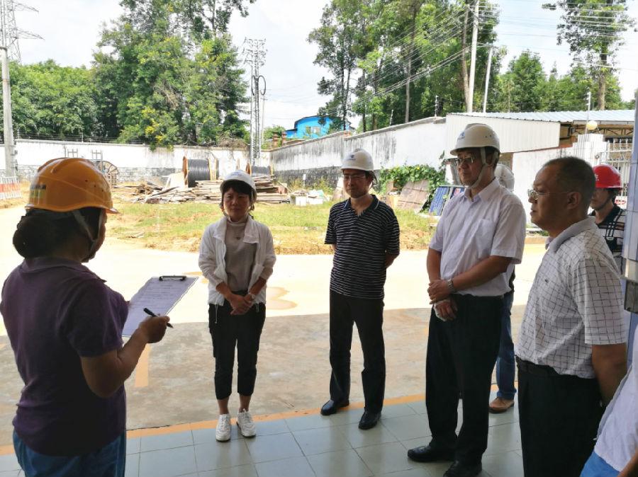 瑞丽局配合省能源安全生产工作检查组开展在建电网工程检查