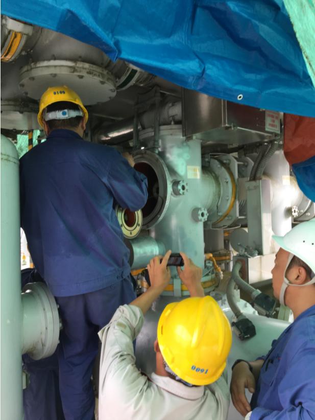 瑞丽局完成220kV瑞丽变间隔漏气消缺工作