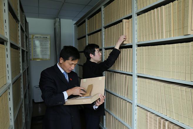 农发行团风县支行2017年档案达标通过省分行验收