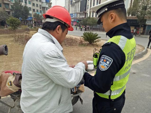 """平塘县公安局交警大队开展""""摩托车""""集中整治"""
