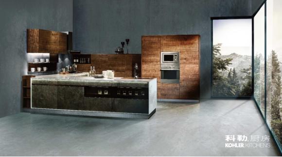 科勒整体橱柜在艺术的厨房分享暖融的朋友圈