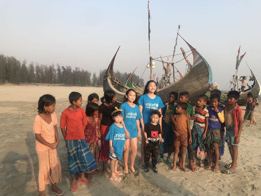 华颂旗下艺人金籽贝Sally受邀拍摄关注孟加拉罗兴亚难民儿童纪录片